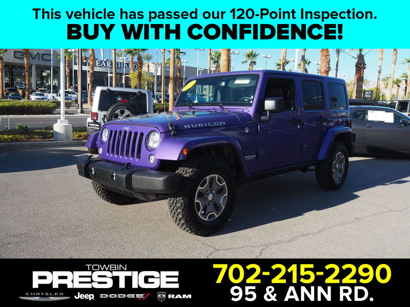 Certified Pre-Owned 2017 JEEP WRANGLER UNLMTD RUBICON