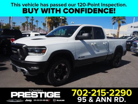 Pre-Owned 2019 RAM 1500 REBEL BED UTILITY Four Wheel Drive QUAD